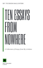 Ten Essays From Nowhere Front Cover